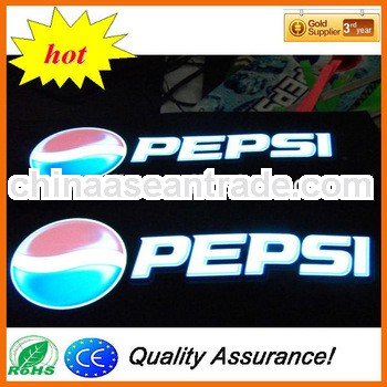 High quality led glow poster,led glow Sign,led glow advertisment poster