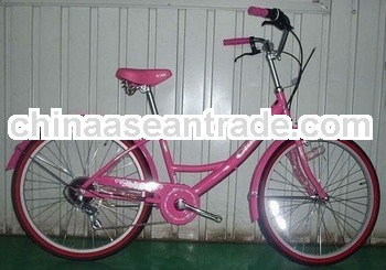 Pink lady style city bike