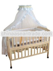 2012 hot sales wooden non-toxic baby crib