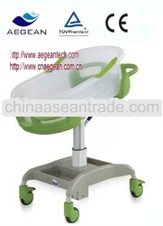 Adjustable plastic baby rocking crib