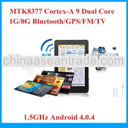 MTK8377 Built-in 3G Phone Call Dual SIM 7 inch Dual Core GPS Bluetooth Dual Camera 8GB Tablet PC